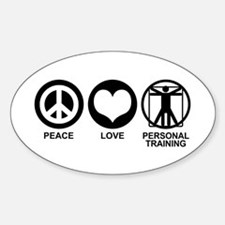 Peace Love Personal Training Oval Decal