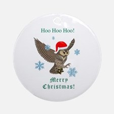 Santa Post Owl Ornament