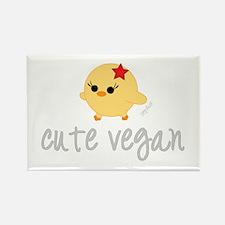 Cute Vegan Rectangle Magnet
