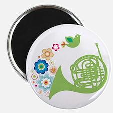 Retro Flower French Horn Magnet