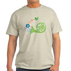 Retro Flower French Horn T-Shirt