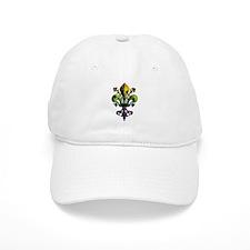 Antique Mardi Gras Fleur Baseball Cap