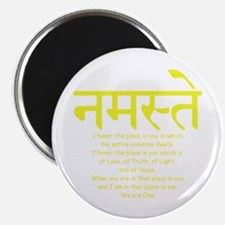 "namaste we are one 2.25"" Magnet (10 pack)"