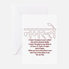 namaste we are one Greeting Cards (Pk of 20)