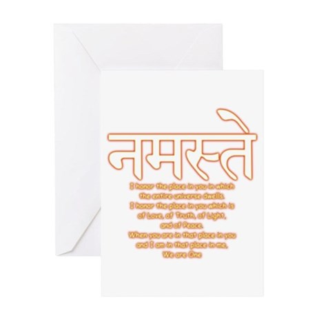 namaste we are one Greeting Card