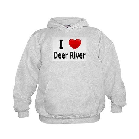 I Love Deer River Kids Hoodie