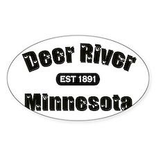 Deer River Established 1891 Oval Decal