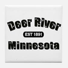 Deer River Established 1891 Tile Coaster