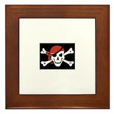 Cute Pirates Framed Tile