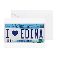 Edina License Plate Greeting Card