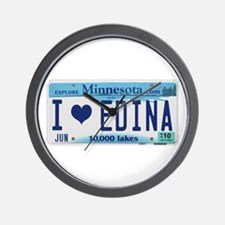 Edina License Plate Wall Clock