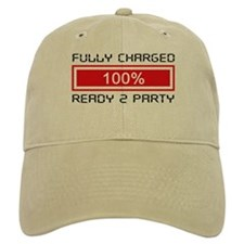Fully Charged Ready to Party Baseball Cap