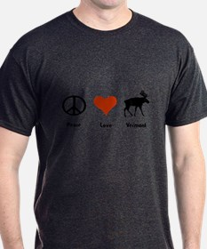 Peace Love Vermont T-Shirt