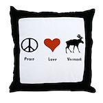 Peace Love Vermont Throw Pillow