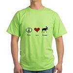 Peace Love Vermont Green T-Shirt