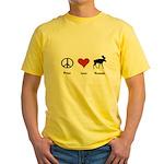 Peace Love Vermont Yellow T-Shirt