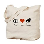 Peace Love Vermont Tote Bag
