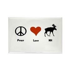 Peace Love New Hampshire Rectangle Magnet