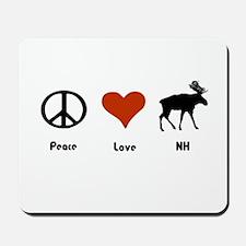 Peace Love New Hampshire Mousepad