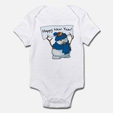 Happy New Years Snowman Infant Bodysuit
