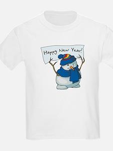 Happy New Years Snowman T-Shirt