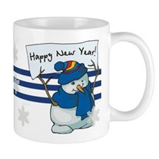 Happy New Years Snowman Mug
