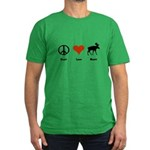 Peace, Love Maine Men's Fitted T-Shirt (dark)