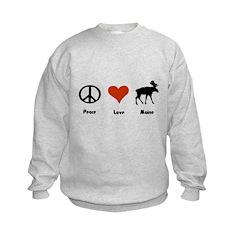 Peace, Love Maine Sweatshirt