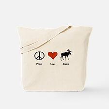 Peace, Love Maine Tote Bag