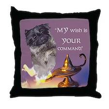 """Cairn Terrier """"Genie"""" Throw Pillow"""