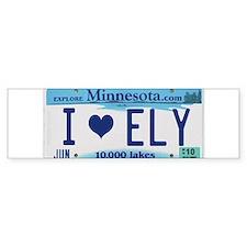 Ely License Plate Bumper Bumper Sticker