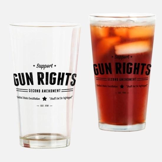 Support Gun Rights Drinking Glass