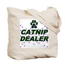 TALK TO YOUR CAT/CATNIP DEALER Tote Bag