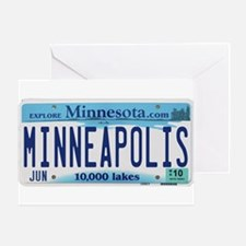 Minneapolis License Greeting Card