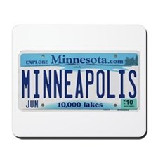 Minneapolis License Mousepad