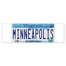 Minneapolis License Bumper Sticker