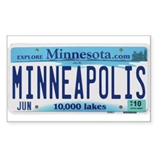 Minneapolis License Decal