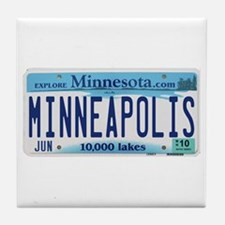 Minneapolis License Tile Coaster