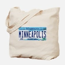 Minneapolis License Tote Bag