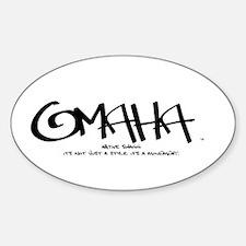 Omaha Tag Oval Decal