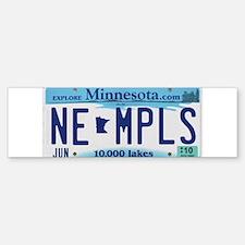 NE Minneapolis License Plate Bumper Bumper Bumper Sticker