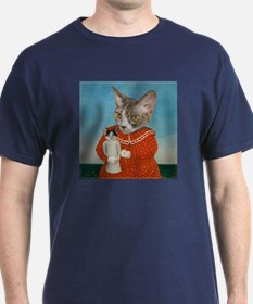 Cat with Doll T-Shirt