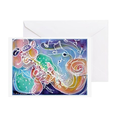 Colorful, Musician Greeting Card