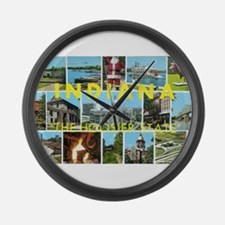 1960's Indiana Scenes Large Wall Clock