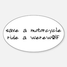 Twilight Save A Motorcycle Oval Decal