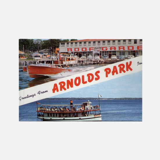 1958 Views of Arnolds Park Rectangle Magnet