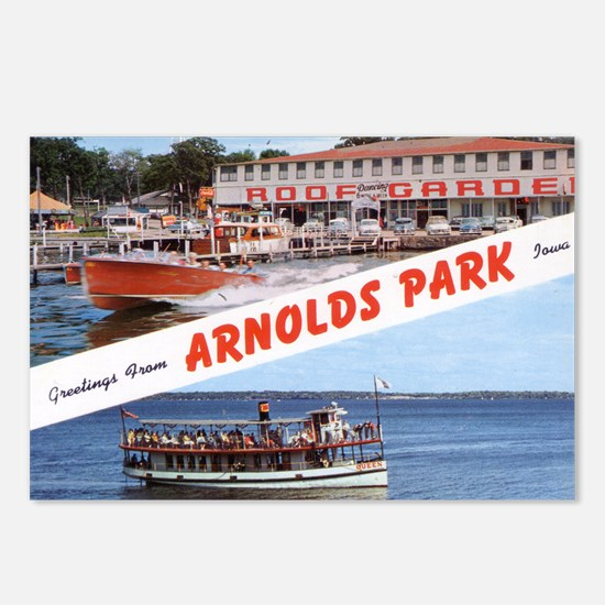 1958 Views of Arnolds Park Postcards (Package of 8
