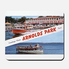 1958 Views of Arnolds Park Mousepad