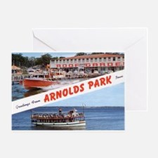 1958 Views of Arnolds Park Greeting Card