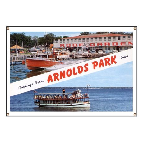 1958 Views of Arnolds Park Banner